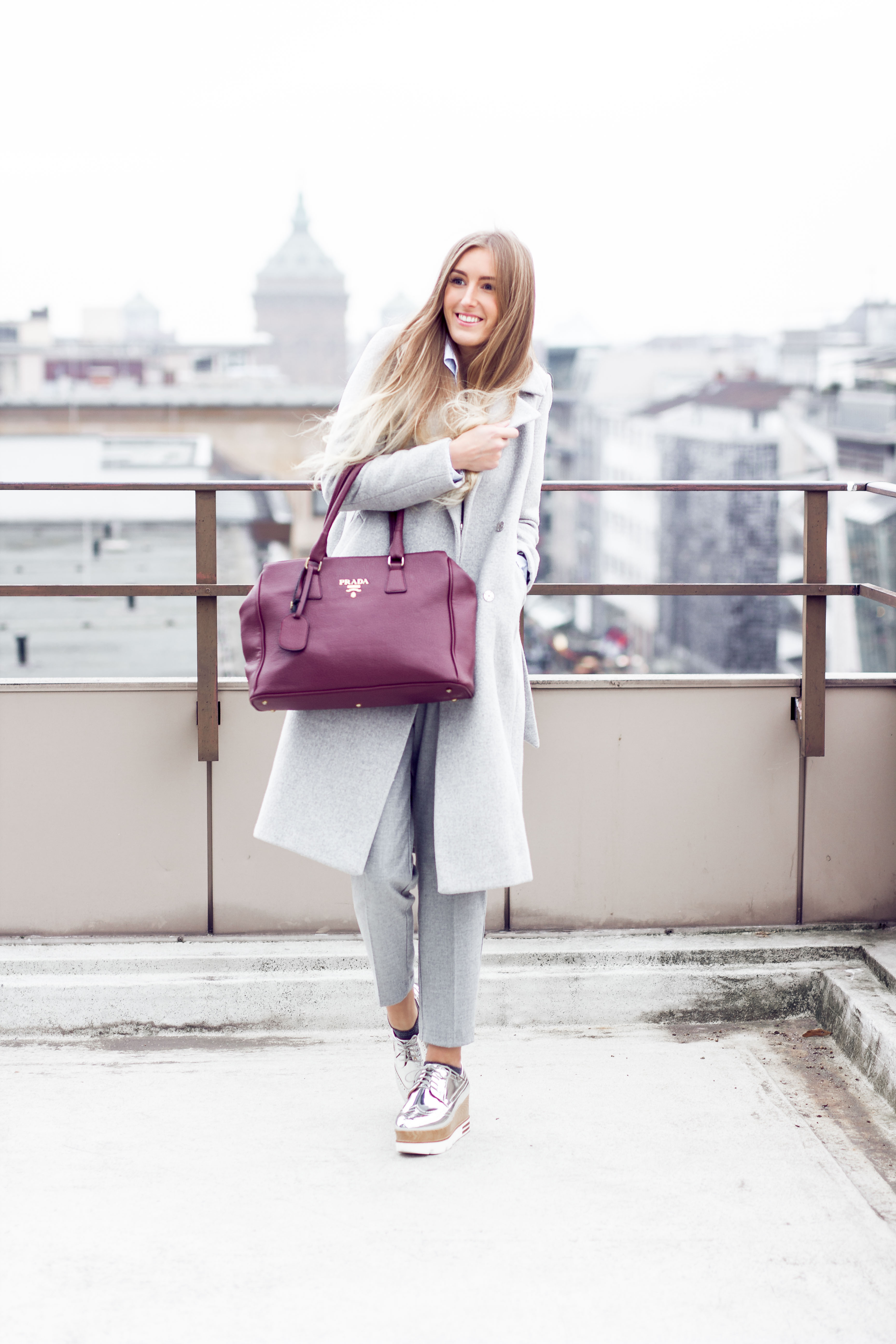 business grey outfit of the day - fashionblogger