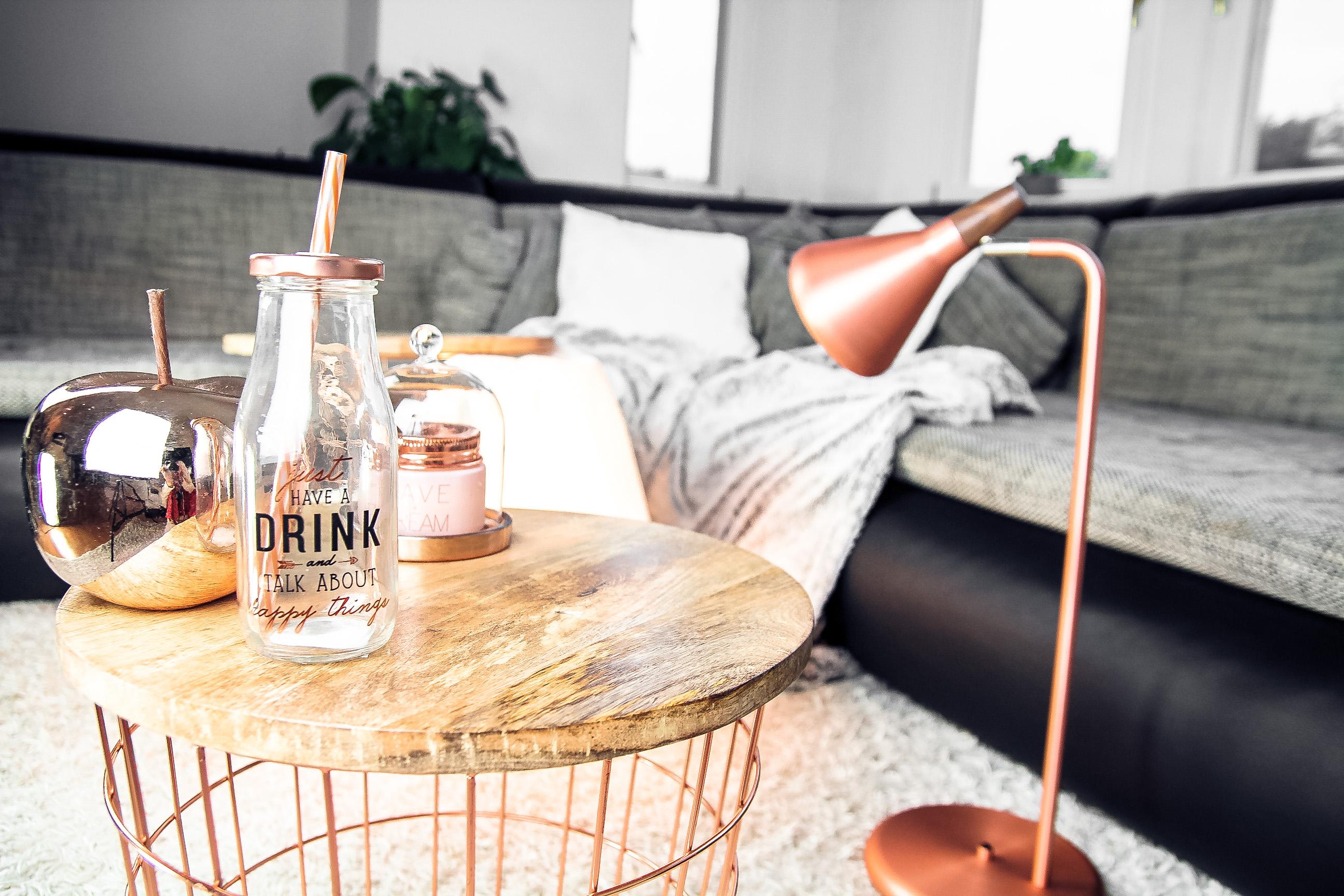 interior: trendfarbe rosé-gold / kupfer - blog